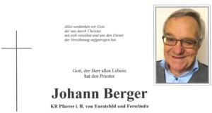 Begräbnis Dechtant Johann Berger
